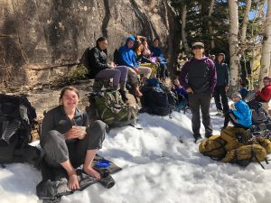 HMI Gap students at Brumley Crags in the La Sals, Utah