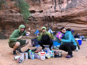HMI Gap Wilderness Semester basecamp in Moab